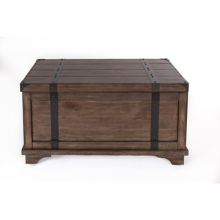 traditional rustic aspen skies occasional trunk cocktail table