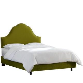 Skyline Furniture Nail Button Bed in Velvet