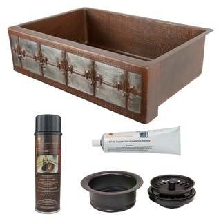 Premier Copper Products - KSP3_KASDB33229F-NB Kitchen Sink and Drain Package