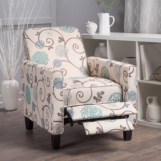 Darvis Floral Fabric Recliner Club Chair By Christopher