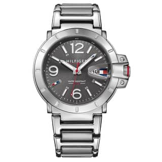 Tommy Hilfiger Turbo Silver/Grey Stainless Steel Men's Watch|https://ak1.ostkcdn.com/images/products/14536412/P21088935.jpg?impolicy=medium