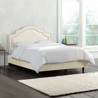 Skyline Furniture Nail Button Bed in Regal Velvet