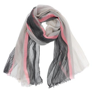LA77 Lightweight Striped Long Scarf