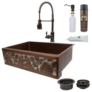 Link to Premier Copper Products Hammered Copper Kitchen Sink, Faucet and Accessories Package Similar Items in Sinks
