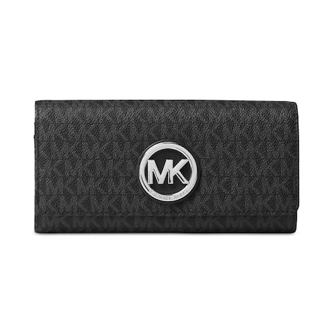 Michael Kors Signature Fulton Black Carryall Wallet