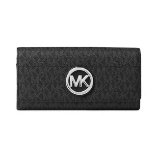 Michael Kors Signature Fulton Black Carryall Wallet