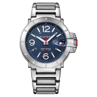Tommy Hilfiger Men's Turbo 1791258 Silver Strap/Navy Dial Stainless Steel Watch