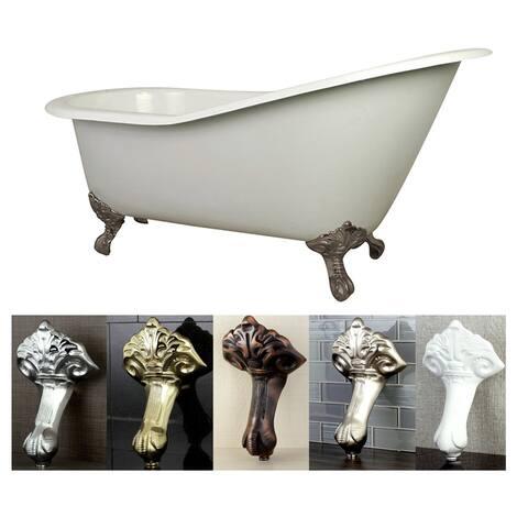 Vintage Slipper 61-inch Cast-iron Clawfoot Tub