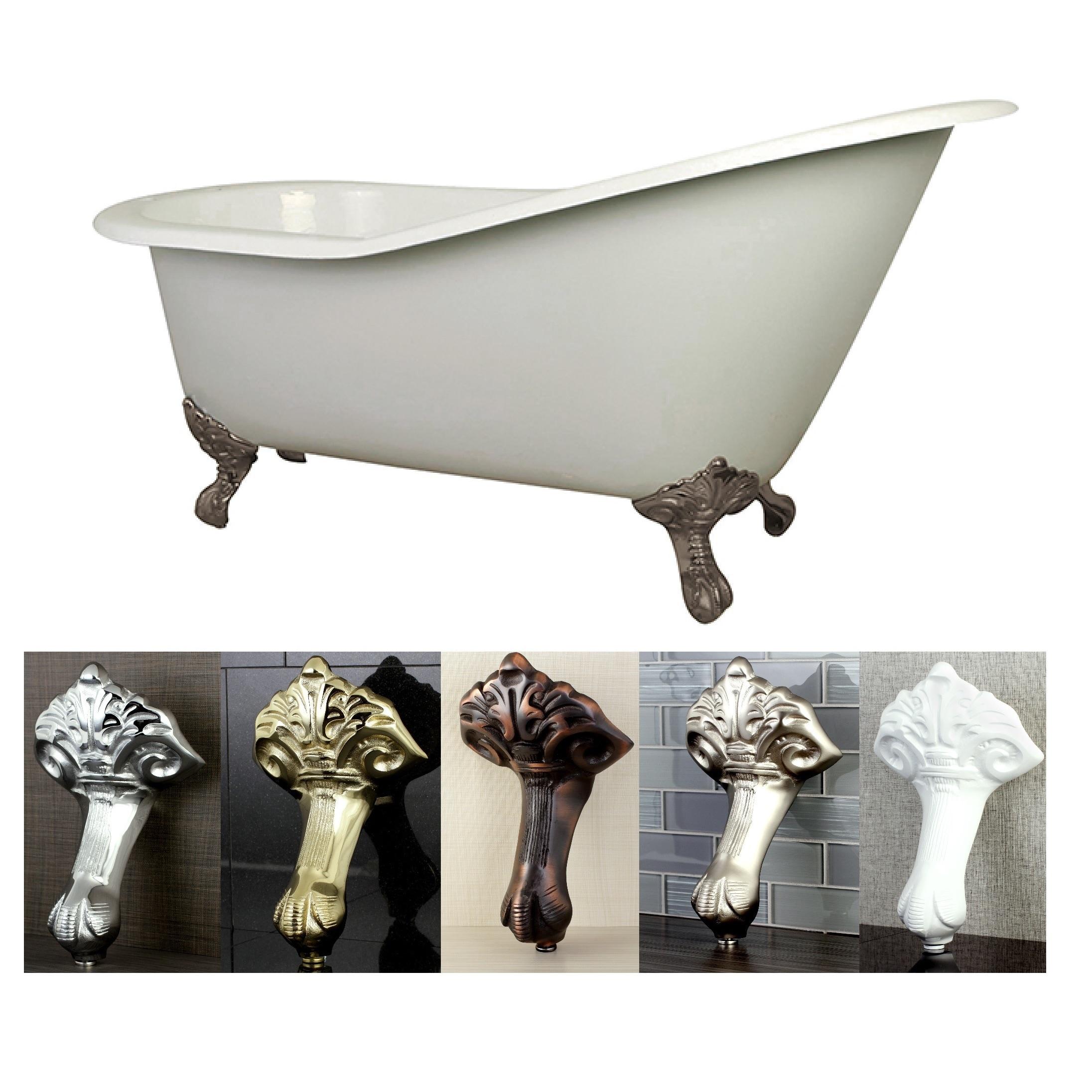 Vintage Slipper 61 Inch Cast Iron Clawfoot Tub