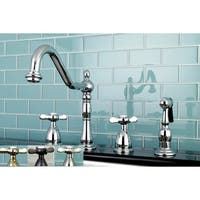 Victorian Cross-Handle Kitchen Faucet w/ Side Sprayer