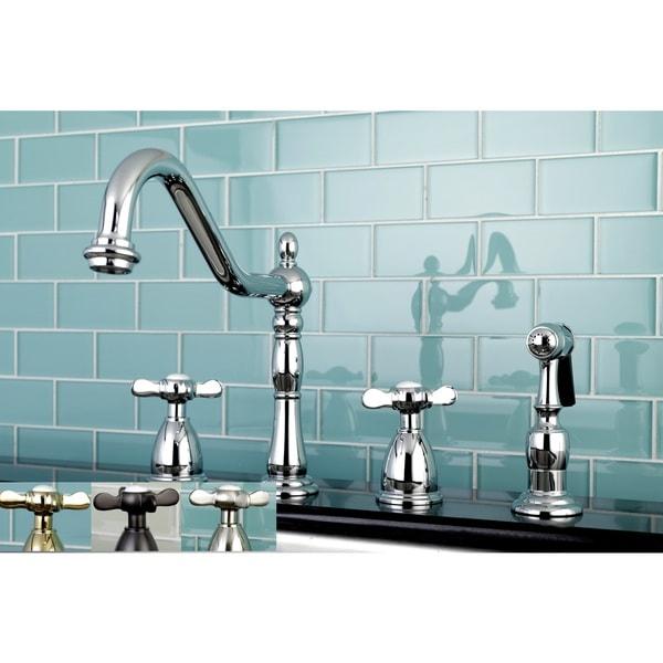 Beautiful Victorian Bathroom Faucet: Shop Victorian Cross-Handle Kitchen Faucet W/ Side Sprayer