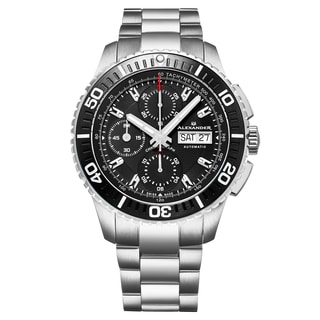 Alexander Men's Swiss Made Automatic Chronograph Stainless Steel Link Bracelet Watch
