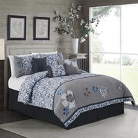 Daisy Embroidered 7 Piece Comforter Set