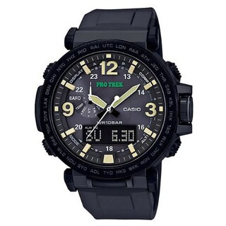Casio PRG-600Y-1CR Pro Trek Black Watch with Silicone Band