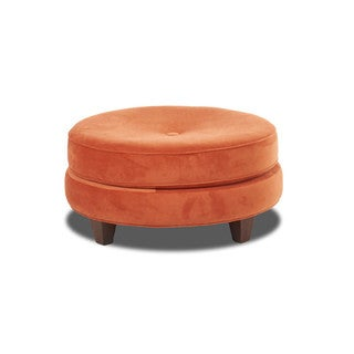 Klaussner Furniture Pippa Orange Ottoman