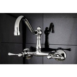 Vintage Adjustable Wallmount Chrome Kitchen Faucet
