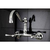 Vintage Adjustable Wallmount Chrome Kitchen Faucet - Chrome/Clear