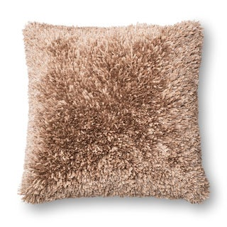 Solid Ribbon Shag 22-inch Throw Pillow or Pillow Cover