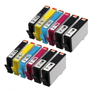 Ink Cartridge for HP B8500 C5393 D7560 Premium C410 Series 7510 e-All-In-One (Set of 12) (Remanufactured)
