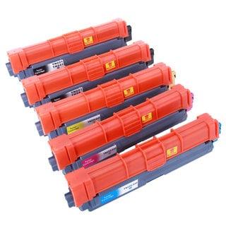 TN221/241/225/245 2BK/1C/1M/1Y Toner Cartridge (Pack of 5)
