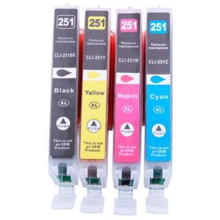 Canon 250/251XL 24 Black/12 Cyan/12 Magenta/12 Yellow Inkjet Ink Cartridges (60 Pieces)