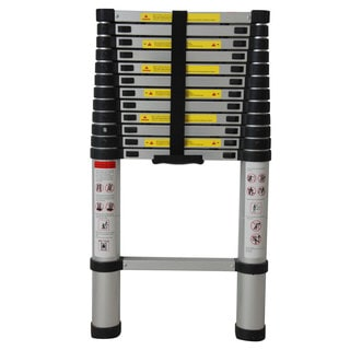 EN131 12.5ft Aluminum Telescoping Telescopic Extension Ladder Tall Multi Purpose