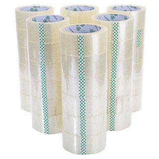 Transparent Adhesive 10-millimeter Packaging Tape Rolls (Case of 36)