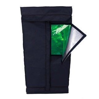 60 x 60 x 120cm Home-use Dismountable Green and Black Hydroponic Plant Growing Tent with Window