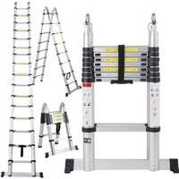 Aluminum Telescoping Extension Ladder Tall Multi Purpose (16.5-foot)