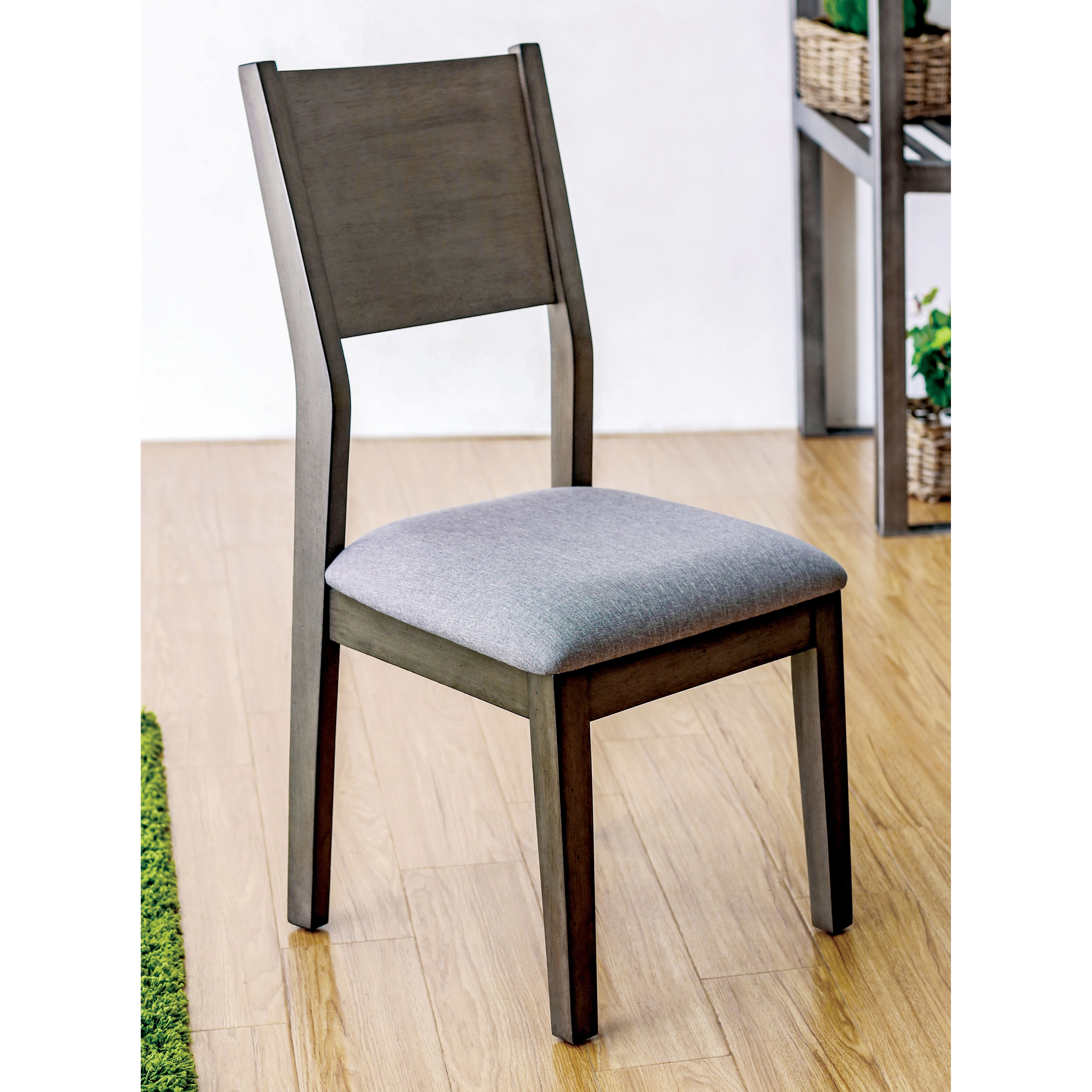 Furniture of America Timpton Contemporary Padded Fabric G...