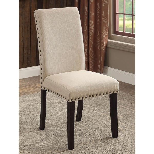 Dining Room Chairs Fabric: Shop Furniture Of America Denilia Contemporary Ivory