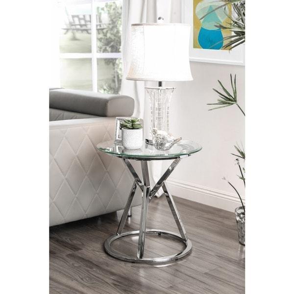Shop Furniture Of America Casey Contemporary Round Glass