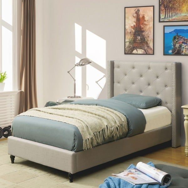 Overstocked Furniture: Furniture Of America Ralen Contemporary Tufted Linen-like