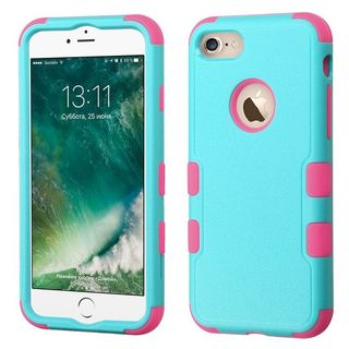 Insten PC/ Silicone Tuff Hard Dual Layer Hybrid Rubberized Matte Case Cover For Apple iPhone 7
