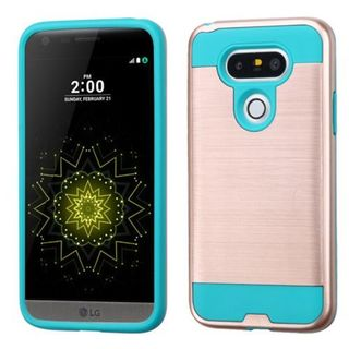 Insten Hard PC/ Silicone Dual Layer Hybrid Rubberized Matte Case Cover For LG G5