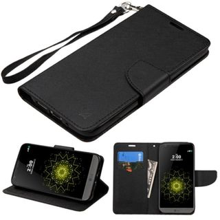 Insten Leather Case Cover Lanyard with Stand/ Wallet Flap Pouch For LG G5