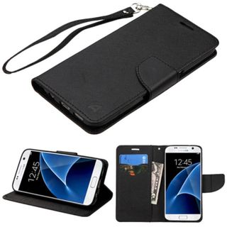 Insten Leather Case Cover Lanyard with Stand/ Wallet Flap Pouch For Samsung Galaxy S7