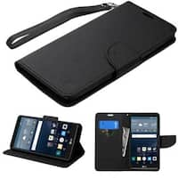Insten Leather Case Cover Lanyard with Stand/ Wallet Flap Pouch For LG G Stylo