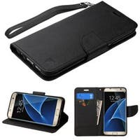 Insten Leather Case Cover Lanyard with Stand/ Wallet Flap Pouch For Samsung Galaxy S7 Edge