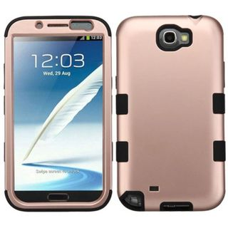 Insten Tuff Hard PC/ Silicone Dual Layer Hybrid Rubberized Matte Case Cover For Samsung Galaxy Note II