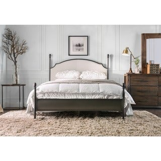 Furniture of America Karis Contemporary Arched Four Poster Bed