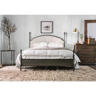 furniture of america karis contemporary arched four poster bed - Metal Toddler Bed Frame