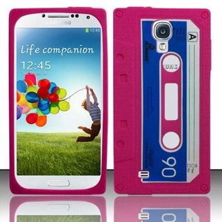 Insten 3D Cassette Tape Silicone Skin Gel Rubber Case Cover For Samsung Galaxy S4/S4 (LTE version)