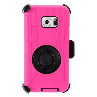 Insten Hard PC/ Silicone Dual Layer Hybrid Case Cover with Stand/Holster For Samsung Galaxy S7 Edge