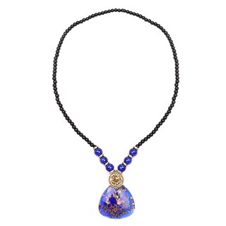 Liliana Bella Goldplated Blue and Glass Beads Fashion Necklace