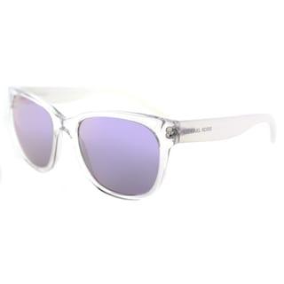 Michael Kors MK 2038 31954V Spring Blossom Crystal Plastic Square Sunglasses Purple Mirror Lens