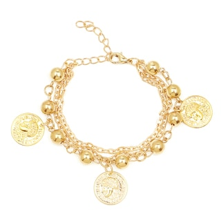 Liliana Bella Goldplated Coin Charm Bracelet