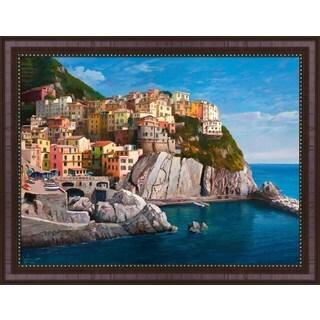 Adriano Galasso 'Manarola (Le Cinque Terre)' Framed Canvas Art