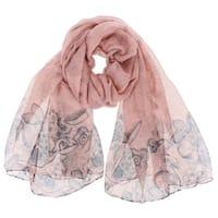 LA77 Women's Floral Polyester Long Soft Scarf Shawl