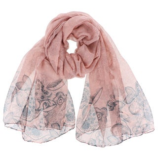 LA77 Women's Floral Polyester Long Soft Scarf Shawl